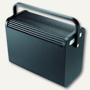 Hängeregistratur-Box Mobilbox, schwarz, für 25 Register/2 A4-Ordner, H6110195