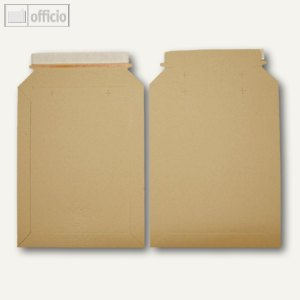 officio Vollpapptaschen, 215 x 270 mm, Vollpappe, braun, 200 Stück, 250767
