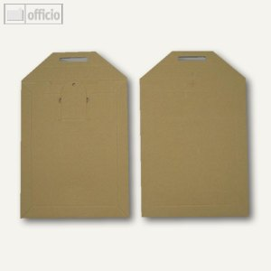 officio Vollpapptaschen, 215 x 270 mm, Vollpappe, braun, 200 Stück, 250558