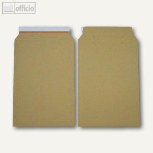 officio Vollpapptaschen DIN B4, 250 x 353 mm, Vollpappe, braun, 100 Stück,250769