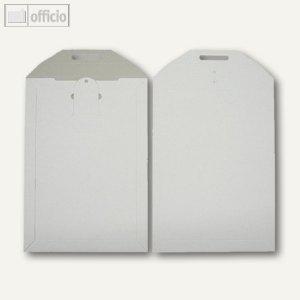 Vollpapptaschen DIN B4, 250 x 353 mm, Duplexkarton, weiß, 100 Stück, 2501029