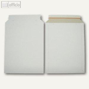 Vollpapptaschen 292 x 374 mm, Haftklebung, Duplexkarton, weiß, 100 St., 250764