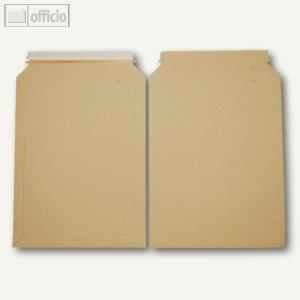 Vollpapptaschen 292 x 374 mm, Haftklebung, Vollpappe, braun, 100 St., 250771