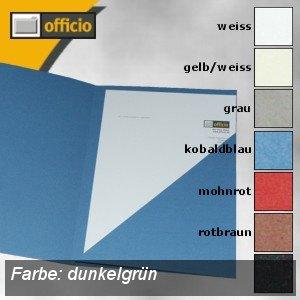 Präsentations-Mappe DIN A4 360g/m²-Papier, dunkelgrün, 10er Pack, 997.756