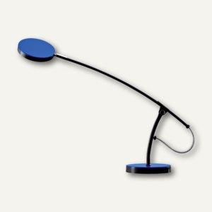 Hansa LED-Tischleuchte Frisbee, 5000 Kelvin, 491 Lux, schwarz/blau, h5010610