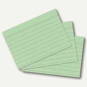 Herlitz Karteikarten, DIN A8, liniert, grün, 100 Stück, 10836336