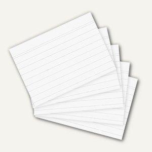 Herlitz Karteikarten, DIN A6, liniert, weiß, 100 Stück, 1150606