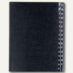 Herlitz Pultordner DIN A4, Fächer 1-31, schwarz, 10421519