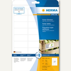 Herma Power Etiketten SPECIAL, 63.5 x 29.6 mm, 675 Stück, 10903