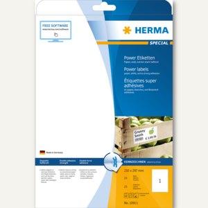 Herma Power Etiketten SPECIAL, 210 x 297 mm, 25 Stück, 10911