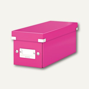LEITZ CD-Ablagebox Click & Store WOW, pink, 6041-00-23