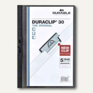 Durable Klemmmappen DURACLIP 30, schwarz, 5er Pack, 2227-01
