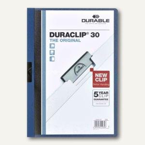 Durable Klemmmappen DURACLIP 30, blau, 5er Pack, 2227-07