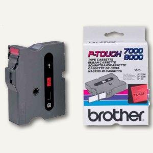 Brother Beschriftungsband 24 mm, schwarz auf rot, TX-451