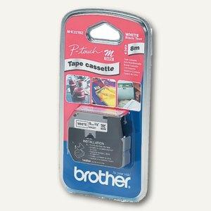 Brother Schriftbandkassette 9 mm, rot auf weiß, M-K222BZ