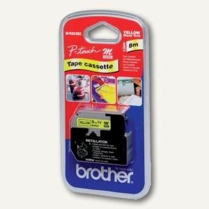 Brother Schriftbandkassette 9 mm, schwarz auf gelb, M-K621BZ