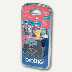 Brother Schriftbandkassette 9 mm, schwarz auf blau, M-K521BZ