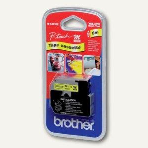 Brother Schriftbandkassette 12 mm, schwarz auf gelb, M-K631BZ