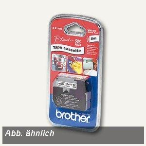 Brother Schriftbandkassette 12 mm, rot auf weiß, M-K232BZ