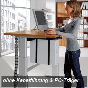 """UP&DOWN Arbeitstisch """"Comfort"""", elektr.verstellbar, Officegrau,120cm, K73816/203"""