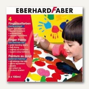 Eberhard Faber Fingermalfarben, auswaschbar, 4er Set, 578804