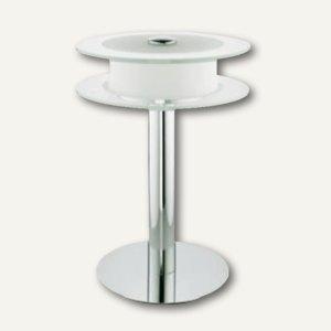 Alco LED-Tischleuchte 9045, mattiertes und klares Glas, 43x31x24cm, chrom, 9045