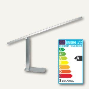 Alco LED-Tischleuchte 9074, höhenverstellb., 25x16.5x62.5cm, Satin Nickel, 9074