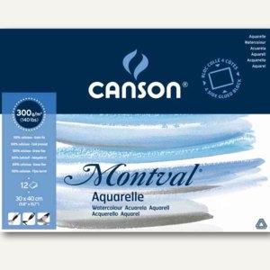 "Canson Aquarellblock ""Montval"", rundum geleimt, 190 x 240 mm, 12 Blatt,200006533"