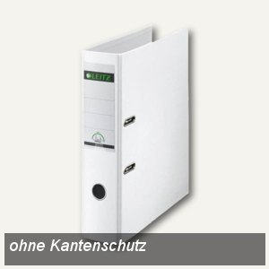 LEITZ Kunststoffordner 180°, Rückenbreite 80 mm, PP, weiß, 1013-50-01