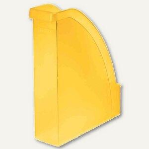 LEITZ Stehsammler Plus, DIN A4 hoch u. quer nutzbar, PS gelb-frost, 2476-00-10