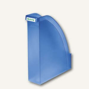 LEITZ Stehsammler Plus, DIN A4 hoch u. quer nutzbar, PS blau-frost, 2476-00-34