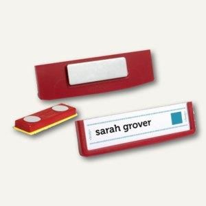 Durable Namensschilder FRAME, magnetisch, 17 x 67 mm, rot, 25 Stück, 850003