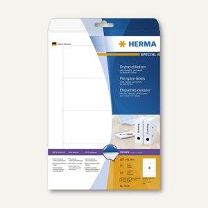 Herma Ordneretiketten, permanent, 157 x 61 mm, blickdicht, weiß, 100 St., 5121