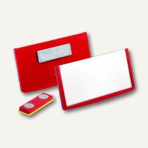 Durable Namensschilder FRAME, magnetisch, 40 x 75 mm, rot, 25 Stück, 850403