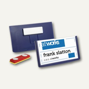 Namensschilder FRAME, magnetisch, 40 x 75 mm, dunkelblau, 25 Stück, 850407