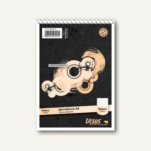 Ursus Spiralnotizblock, DIN A6, liniert, ECF, 70 g/qm, 40 Blatt, 608640010