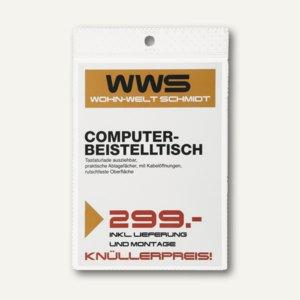 Durable Etikettenschutzhüllen mit Aufhängeloch, A6, transparent, 100St., 229719