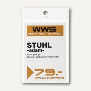 Durable Etikettenschutzhüllen mit Aufhängeloch, A8, transparent, 100St., 229419