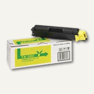 Kyocera Toner für Laserdrucker FS-C5150DN, ca. 2.800 Seiten, gelb, TK-580Y