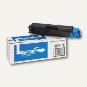Kyocera Toner für Laserdrucker FS-C5150DN, ca. 2.800 Seiten, cyan, TK-580C