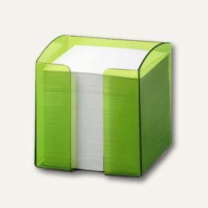 Zettelkasten TREND inkl. 800 Blatt, quadratisch, tr.-light-grün, 6St., 170168201