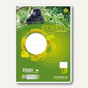 Ursus Green Schulheft DIN A5, 80g, 3.Schuljahr LIN3, 16 Blatt, 040705003
