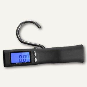 JSA Digitale Kofferwaage, LCD-Display, bis 40 kg, schwarz, 70819