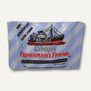 Fishermans Friend Extra Frisch Stark Eukalytpus Menthol, ohne Zucker, 25 g,63551