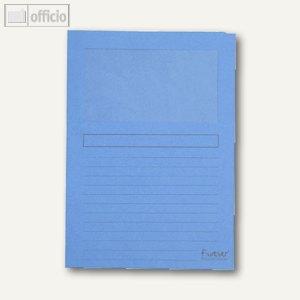 Exacompta Sichtmappen DIN A4, Karton, 120g/m², hellblau, 100 Stück, 50106E