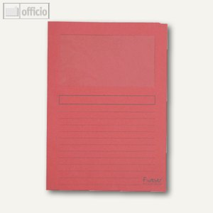 Exacompta Sichtmappen DIN A4, rot, Karton, 120g/m², 100 Stück, 50105E