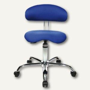 "Topstar Drehhocker mit Lehne ""Sitness 40"", Sitzhöhe 43 - 51 cm, blau, ST290W56"
