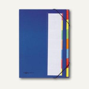 Pagna Ordnungsmappe Deskorganizer, 7 Fächer, Karton, blau, 44171-02