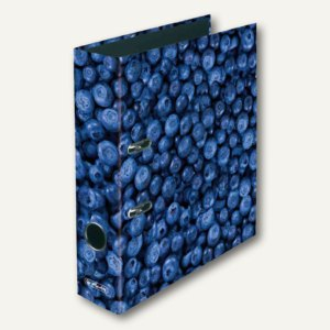 "Herlitz Motivordner maX.file World of Fruits ""Blaubeere"", A4, 80 mm, 11080660"