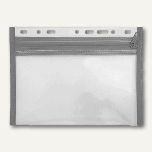 Reißverschlusstasche VELOBAG XS, A4, abheftbar, Eurolochung, schwarz, 4354080